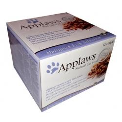 Applaws puszki dla kota Multipak Fish 12x70g