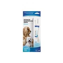 Francodex Zestaw do szczotkowania zębów pasta + szczoteczka [FR179122]