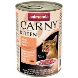 Animonda Carny Kitten Wołowina, Cielęcina + Kurczak puszka 400g
