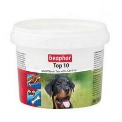 Beaphar TOP 10 Dog - preparat witaminowy z L-karnityną dla psa 750tabl.