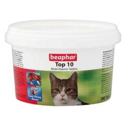 Beaphar TOP 10 Cat - preparat witaminowy z tauryną dla kota 180tabl.