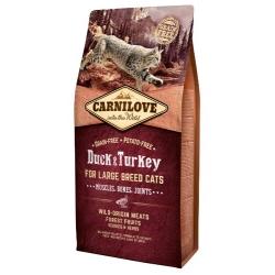 Carnilove Cat Duck & Turkey for Large Breed - kaczka i indyk 6kg