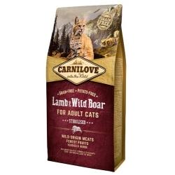 Carnilove Cat Lamb & Wild Boar Sterilised - jagnię i dzik 6kg