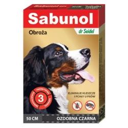 Sabunol GPI Obroża przeciw pchłom dla psa ozdobna czarna 50cm