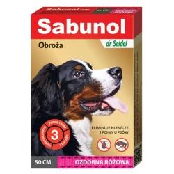 Sabunol GPI Obroża przeciw pchłom dla psa ozdobna różowa 50cm
