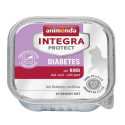 Animonda Integra Protect Diabetes dla kota - z wołowiną tacka 100g