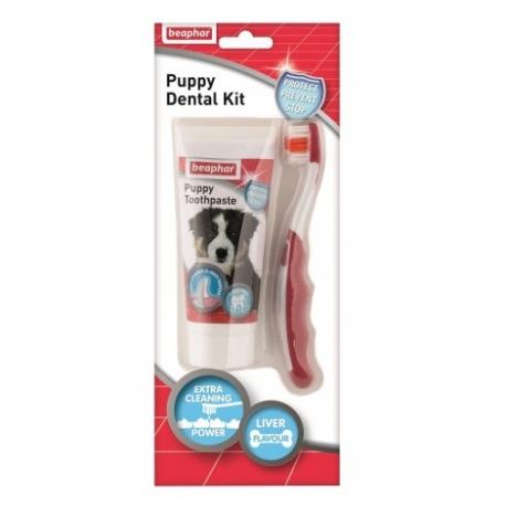 Beaphar Puppy Dental Kit - szczoteczka i pasta do zębów 50g