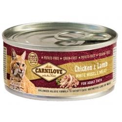 Carnilove Cat Chicken & Lamb - kurczak i jagnięcina puszka 100g