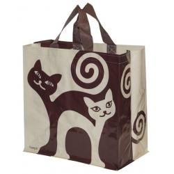 Torba Animals 24L zakręcone koty - beżowo-brązowa