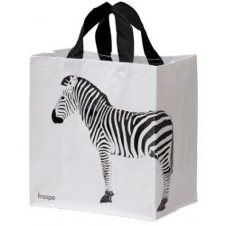 Torba Animals 24L zebra biała