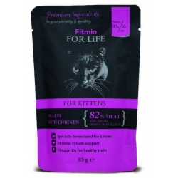 Fitmin Cat For Life Kitten Chicken saszetka 85g