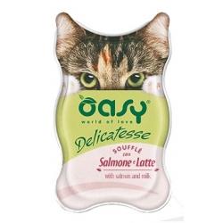 Oasy Kot Delicatesse Souffle Łosoś i mleko 85g