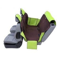 Kardiff Activ Mata samochodowa na tylne fotele z zamkiem i bokami L brązowo-zielona