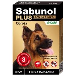 Sabunol Obroża Plus przeciw pchłom dla psa 75cm