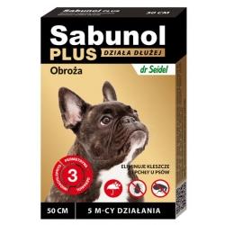 Sabunol Obroża Plus przeciw pchłom dla psa 50cm