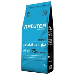 Naturea Cat & Kitten Łosoś 2kg