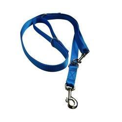 CHABA Smycz taśma regulowana - 16mm x 130/260cm niebieska