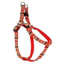 CHABA Szelki taśma ozdobne nr 4 - obwód 70cm czerwone