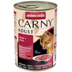 Animonda Carny Adult Wołowina + Serca puszka 400g