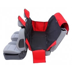 Kardiff Activ Mata samochodowa na tylne fotele z zamkiem i bokami S czarno-czerwona