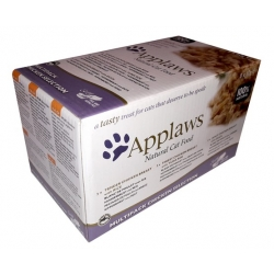 Applaws miseczki dla kota Chicken Selection Multi Pack 8x60g