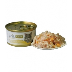 Brit Care Cat Chicken Breasts & Cheese - Pierś Kurczaka i Ser puszka 80g