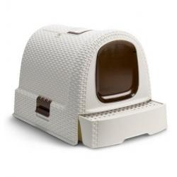 Curver Toaleta z filtrem dla kota beżowo-brązowa