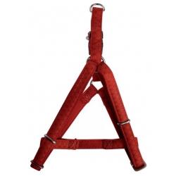 Zolux Szelki regulowane Mac Leather 15mm Czerwone [522055RO]