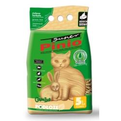 Super Pinio Zielona Herbata żwirek drewniany 5L