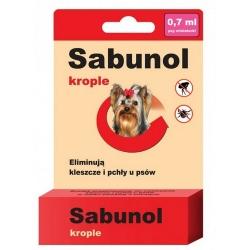 Sabunol Krople przeciw pchłom i kleszczom dla yorków 0,7ml