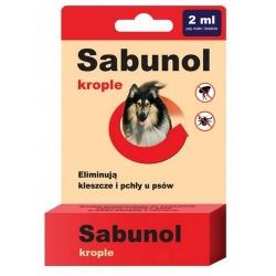 Sabunol Krople przeciw pchłom i kleszczom dla psa 2ml