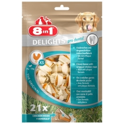 8in1 Dental Delights Bones XS torebka 21szt