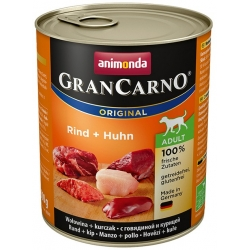 Animonda GranCarno Adult Rind Huhn Wołowina + Kurczak puszka 800g