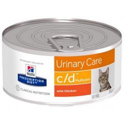 Hill's Prescription Diet c/d Feline z Kurczakiem pasztet puszka 156g
