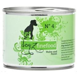 Dogz Finefood N.04 Kurczak i bażant puszka 200g