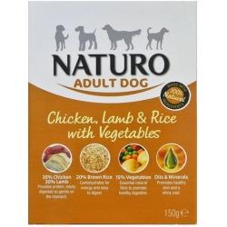 Naturo Adult Kurczak, jagnię z ryżem i warzywami 150g