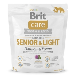 Brit Care Grain Free Senior & Light Salmon & Potato 1kg