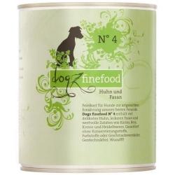 Dogz Finefood N.04 Kurczak i bażant puszka 800g