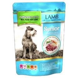 Natures Menu Pies Senior - jagnięcina kurczak warzywa i ryż saszetka 300g