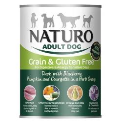 Naturo Adult Kaczka, jagody, dynia i cukinia w sosie puszka 390g