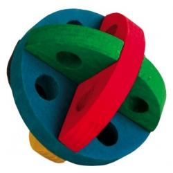 Trixie Drewniana piłka na smakołyki dla gryzoni 8cm [TX-6185]