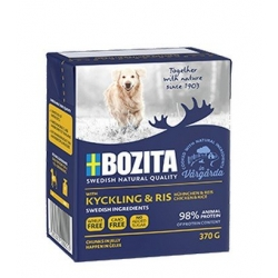 Bozita Dog Tetra Recart z kurczakiem i ryżem w galaretce kartonik 370g