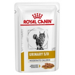 Royal Canin Veterinary Diet Feline Urinary S/O Moderate Calorie saszetka 85g