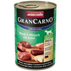 Animonda GranCarno Adult Rind Hirsch Apfel Wołowina, Jeleń + Jabłko puszka 400g