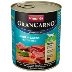 Animonda GranCarno Adult Rind Lachs Wołowina, Spinat Łosoś + Szpinak puszka 800g