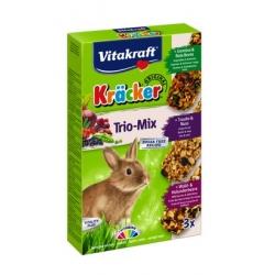 Vitakraft Kracker 3szt Królik Mix - Warzywa/Winogrona/Owoce leśne 168g [25227]