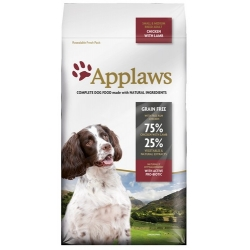 Applaws Adult Dog Small & Medium Breed Kurczak z jagnięciną 2kg