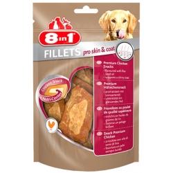 8in1 Fillets Pro Skin & Coat - przekąska dla zdrowej skóry 80g