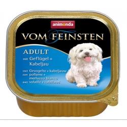 Animonda vom Feinsten Dog Adult Drób i Dorsz tacka 150g