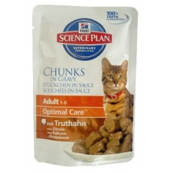 Hill's Feline Adult Turkey saszetka 85g